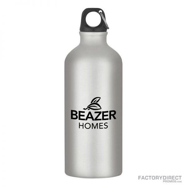Silver Custom Promotional 20oz Aluminum Bottles in Bulk