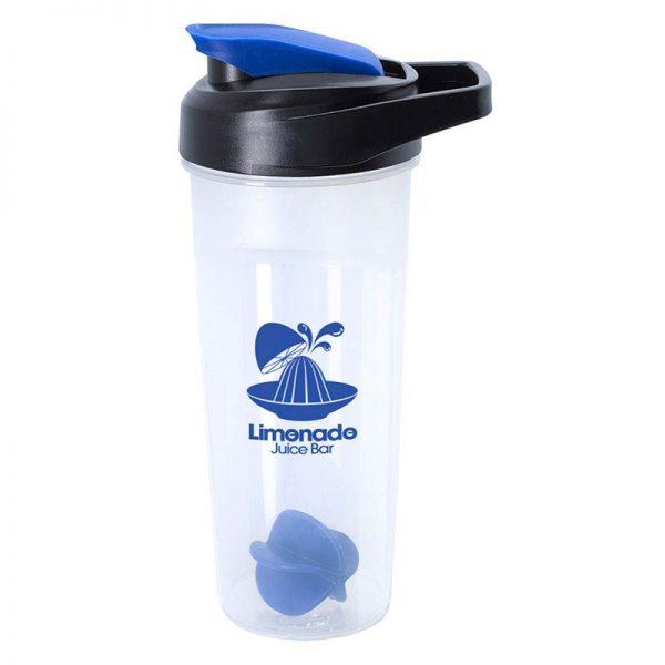 Blue 21oz Promotional Blender Bottle with Agitator Ball