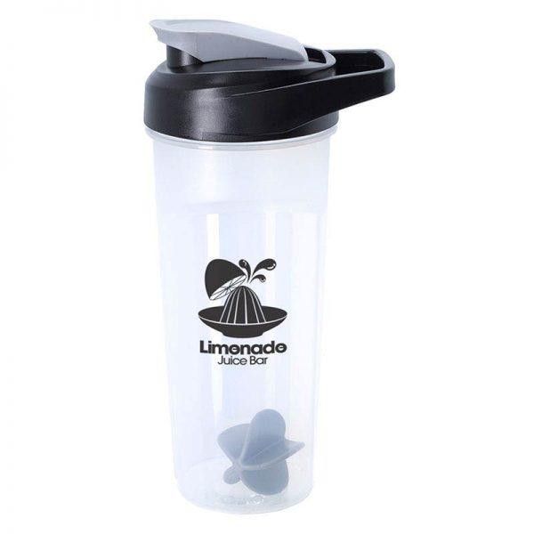 Grey 21oz Promotional Blender Bottle with Agitator Ball