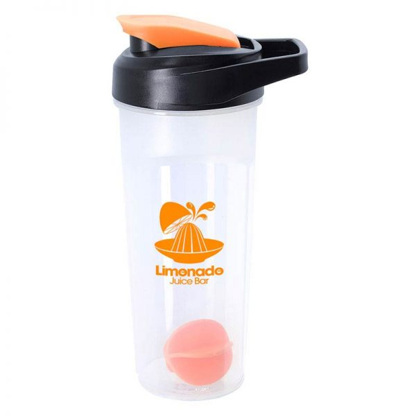 Orange 21oz Promotional Blender Bottle with Agitator Ball