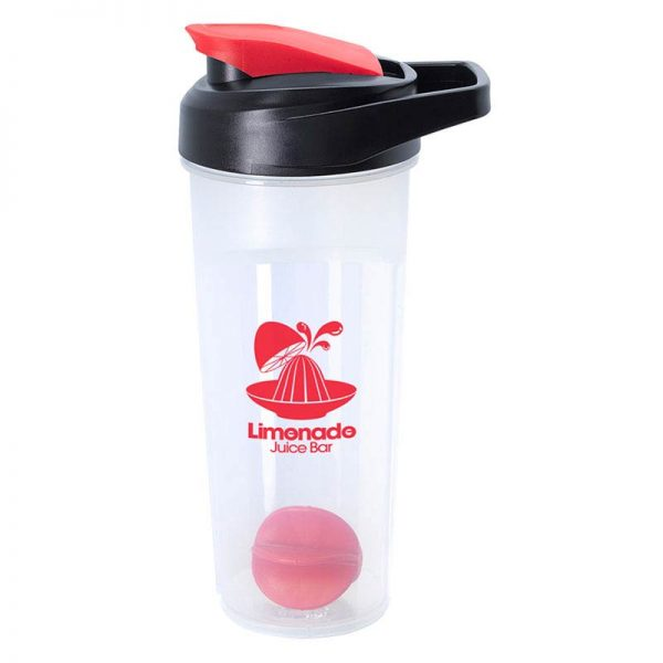 Red 21oz Promotional Blender Bottle with Agitator Ball