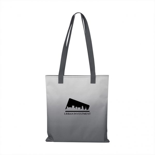 Customizable Gray Tote Bags with distinctive Ombré style