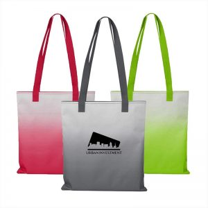 Customizable Tote Bags with distinctive Ombré look