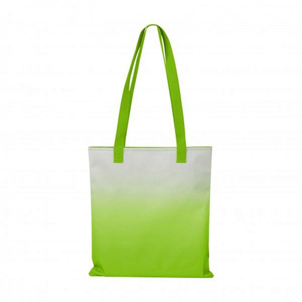 Customizable Lime Tote Bags with distinctive Ombré style