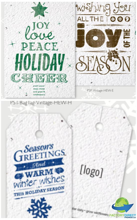 Seed Paper Vintage Holiday Card Collection