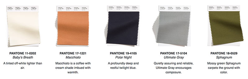 pantone color trends for reusable bags 2021