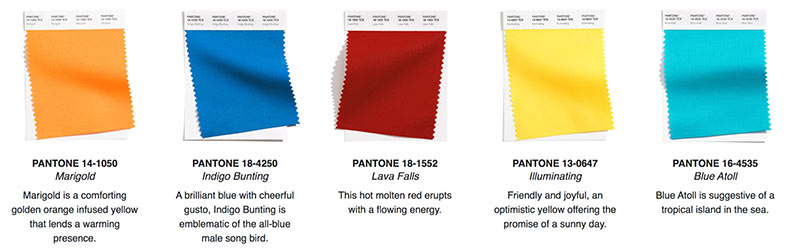 pantone color trends for reusable trade show bags 2021