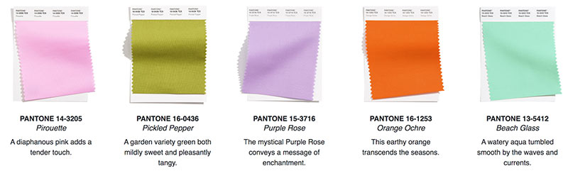 pantone color trends for reusable tradeshow bags 2021