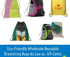 Eco-Friendly Wholesale Reusable Drawstring Bags As Low as .49 Cents