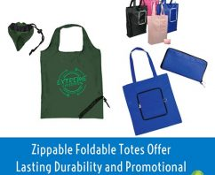 Zippable Foldable Totes Offer Promotional Marketing ROI for Under $1