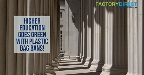 Higher Education Goes Green with Plastic Bag Bans!